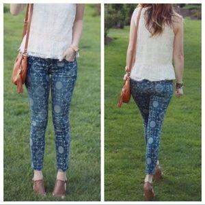 Free People Sundial Skinny Jeans Sz 25 ::LL8